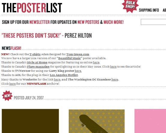 the poster list