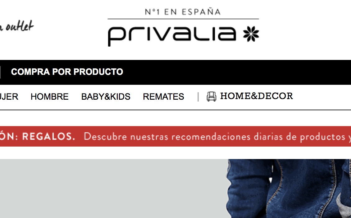 outlet privalia